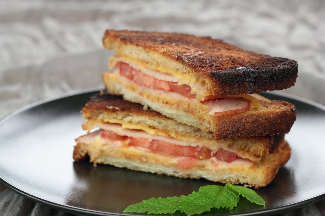 Grilled Ham and Cheese Sandwich with a twist.